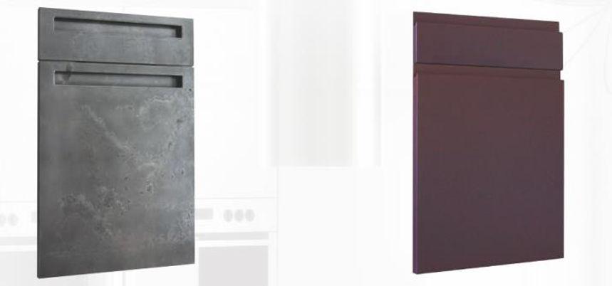 Portes de cuisines laquées titanium