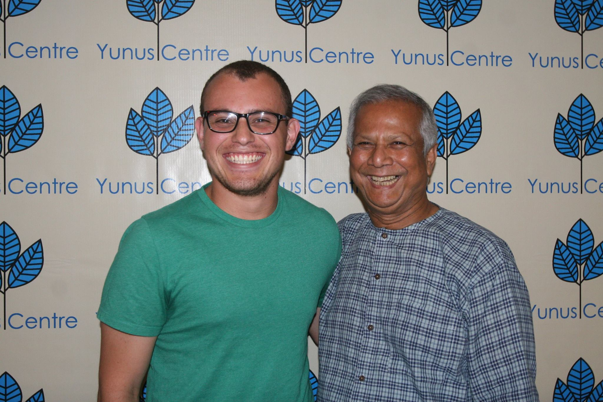 GenDev alumnus Dan Rodriguez and Muhammad Yunus, founder of the Grameen Bank