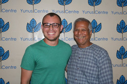 GenDev alumnus Dan Rodriguez and Muhammad Yunus, founder of the Grameen Bank