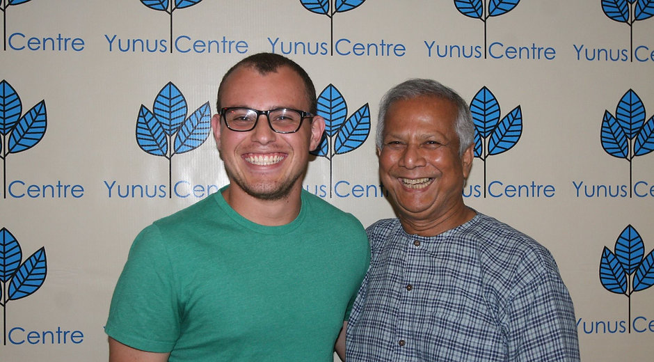 Dan and Muhammad Yunus, Founder of the Grameen Bank