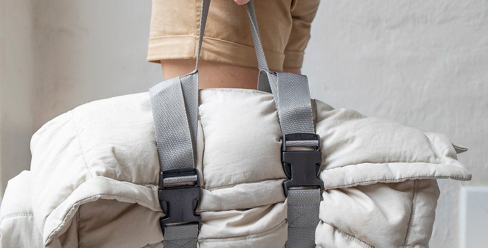 The weighted blanket carrier