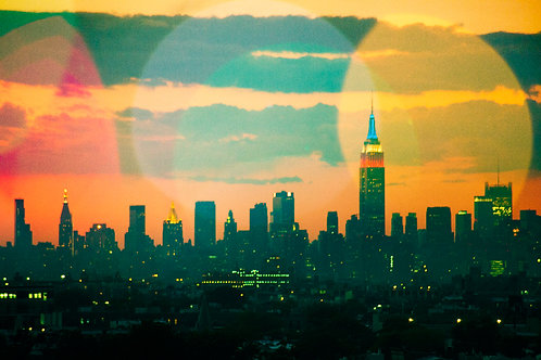 New York in July New York City Skyline featuring the Empire State Building Photography Art Print