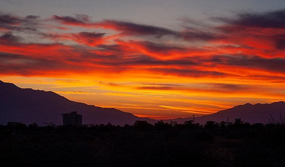Beautiful California Desert Sunset Photography Art Print