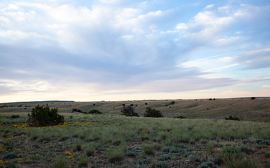 Heartland Beautiful Rolling Plains With Colorful Sky Photography Art Print