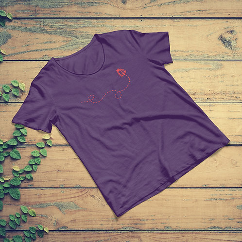 "Women's Jig-Bee ""Beeline"" Tee - Plum 