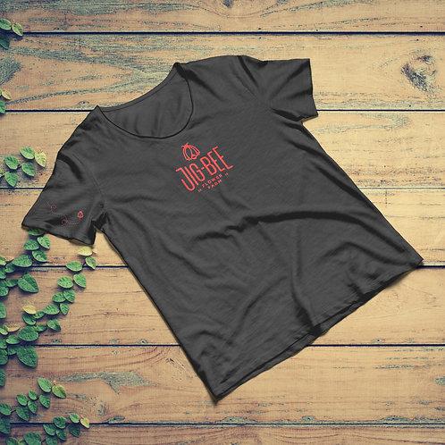 Women's Jig-Bee Logo Tee - Dark Heather Gray | Coral Ink