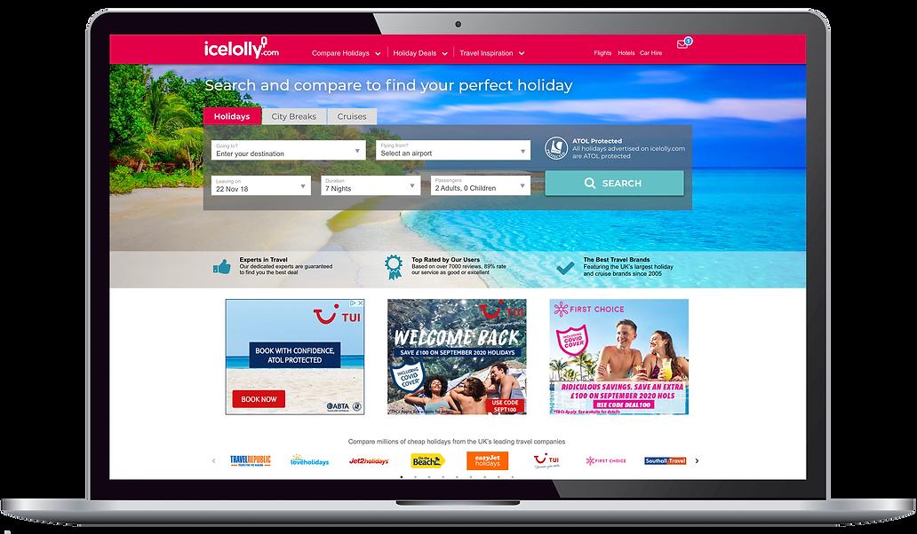 UI design of desktop home page