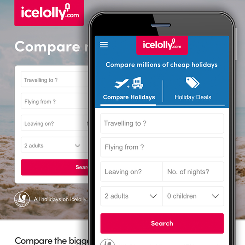 Icelolly Home Page & Navigation