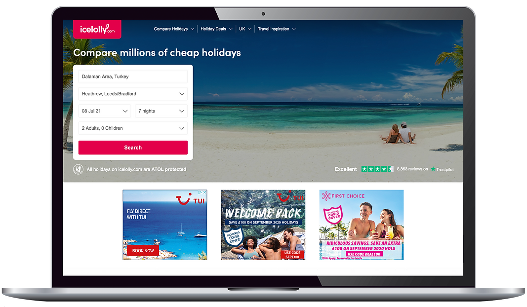 UI design of desktop homepage