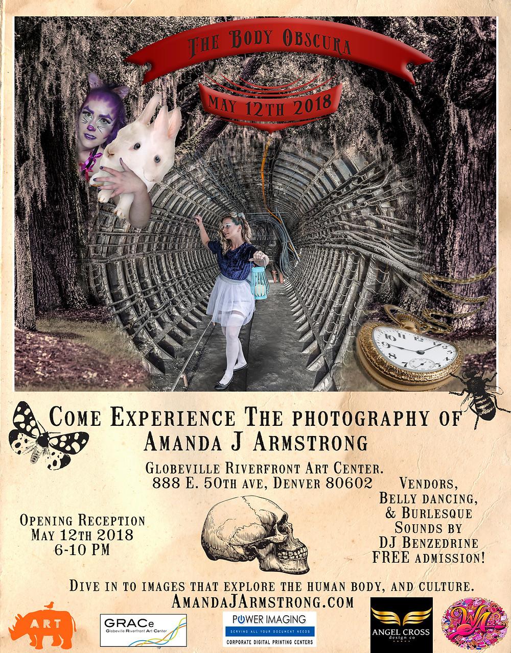 the body obscura, art show, photography, surreal, amanda j armstrong, denver, art, colorado, GRACe, Rino district