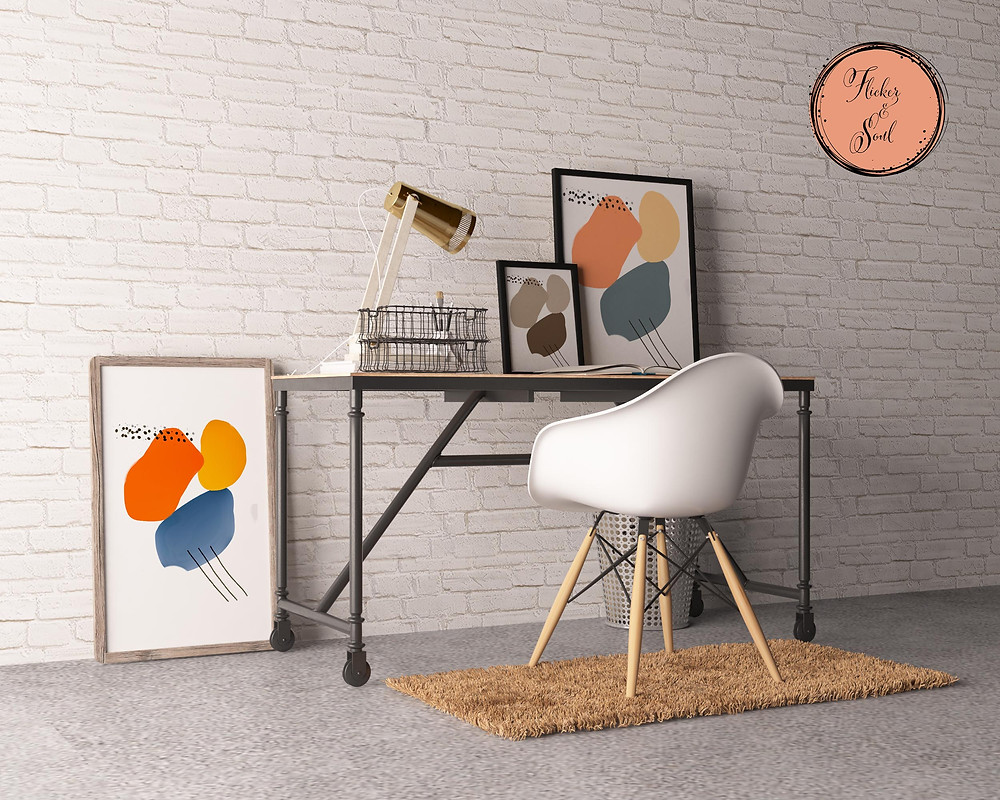 Minimal art decor for hotels and interior designers.