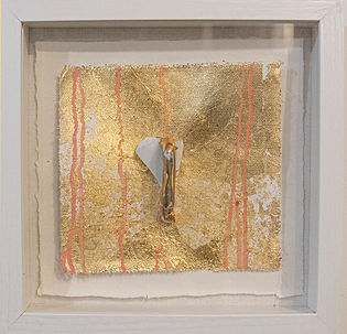 3d mixed media art with Japanese Ceramic and gold in Denver Co