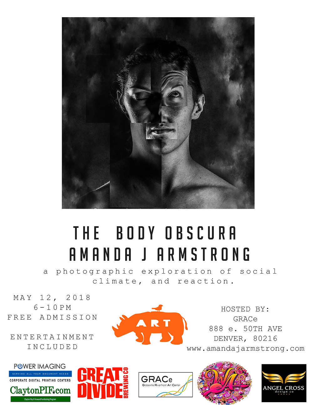 The Body Obscura, Art show, Photography, Denver, Studios at Grace, Denver Event, Photography, Art, RiNo Art District.