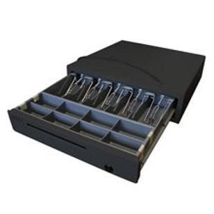 Денежный ящик «МИДЛ» большой черный 2.0/КО (электрический замок)