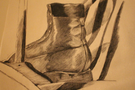 Boot and flag