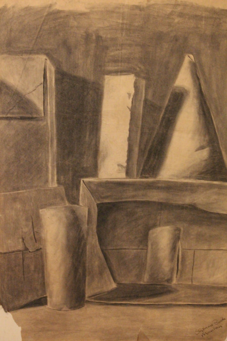 Objects, in charcoal