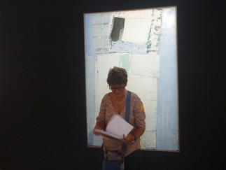 Autoportrait d'une femme en bleu