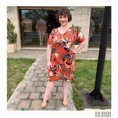 Vestido Friso Lateral