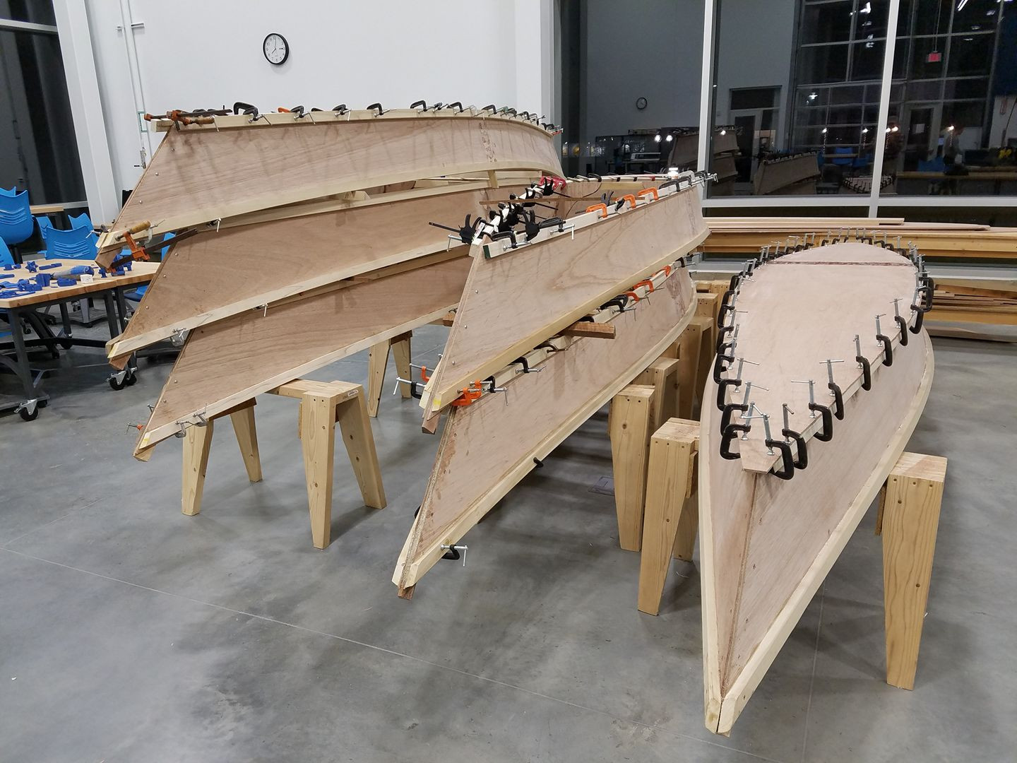 Canoes in process