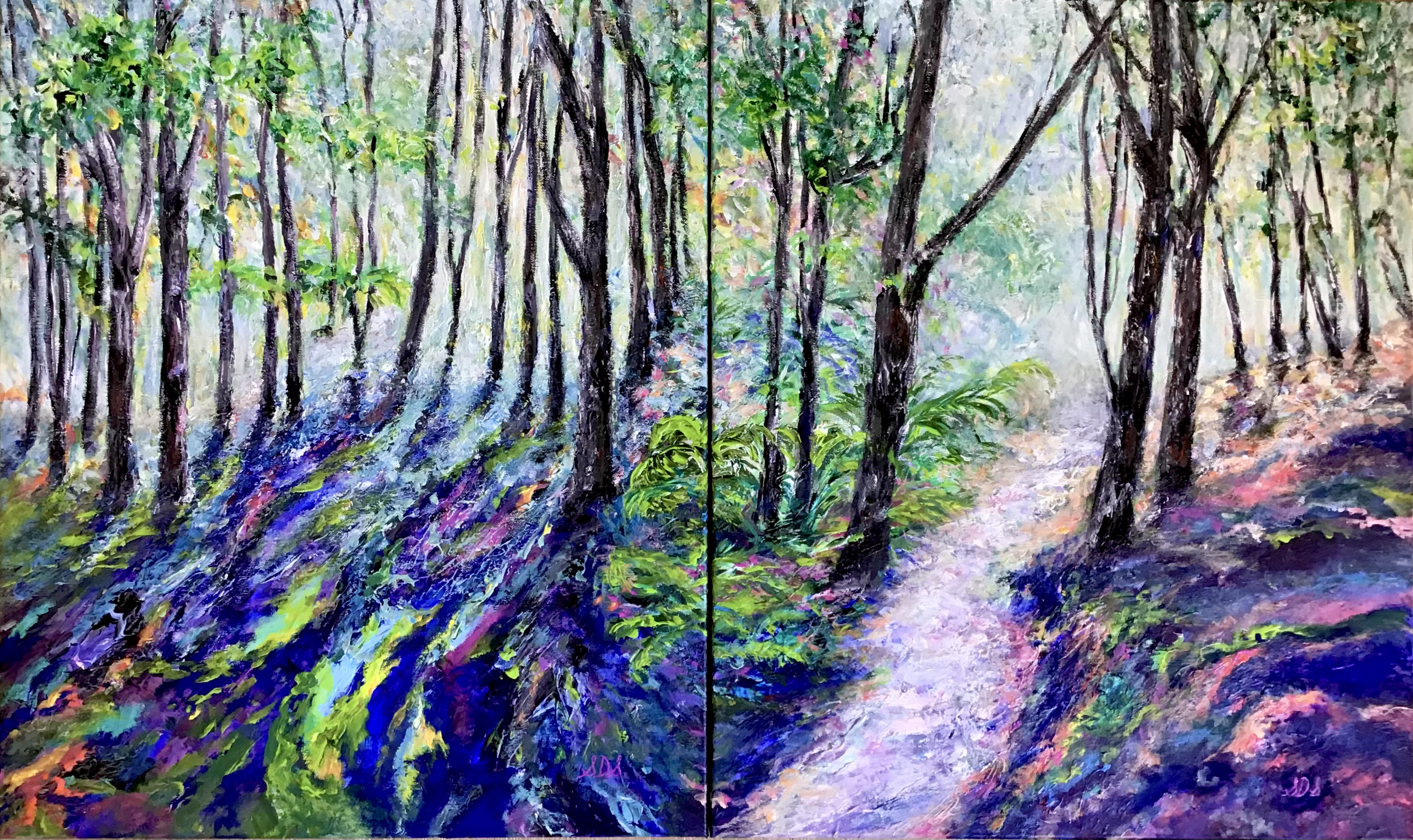 Through The Forest - Diptych