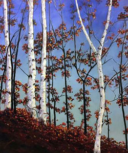 Autumn Birch Hillside