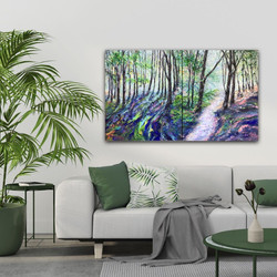 Through The Forest diptych in room