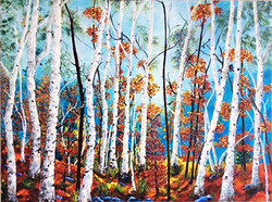 Autumn Birch Hilltop