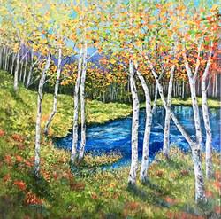 Autumn Birch Lakeside