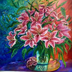 Heavenly Stargazer Lilies  ABUNDANCE