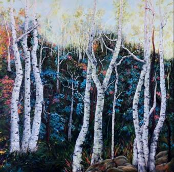 SOLD Blue Birch Grove