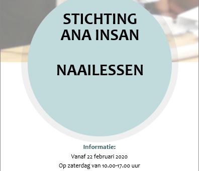 Stichting Ana Insan verzorgt naailessen! Kom jij ook?