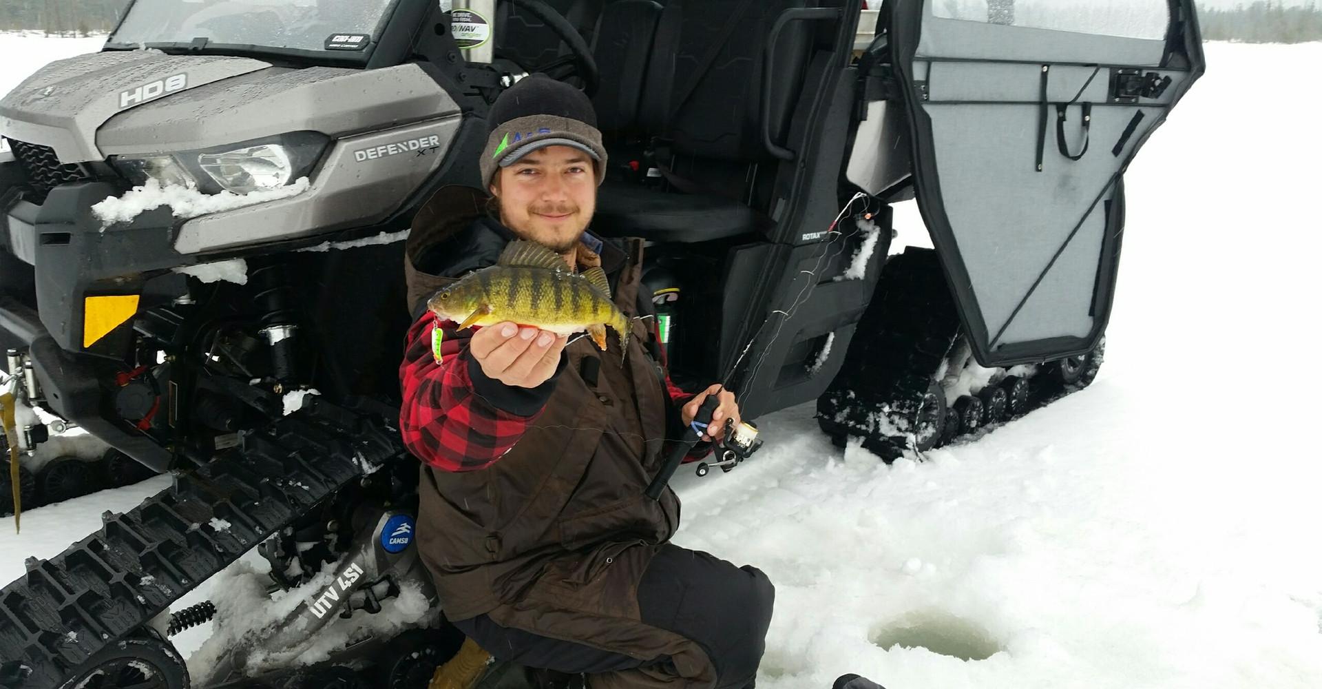 Keweenaw Jumbo Perch Ice Fishing