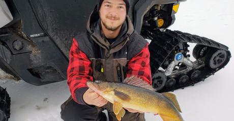 Keweenaw Walleye Ice Fishing