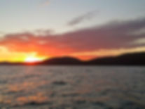 Susnset fishing charters in Lake Superior