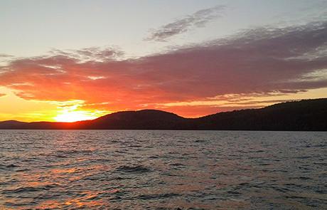 Bear Bluff Sunset Lake Superior Lac La Belle