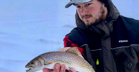 Keweenaw Copper Harbor Splake Ice Fishing