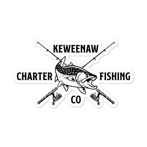 Keweenaw Charters Logo Sticker