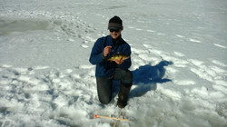 Ice Fishing for Perch in the UP