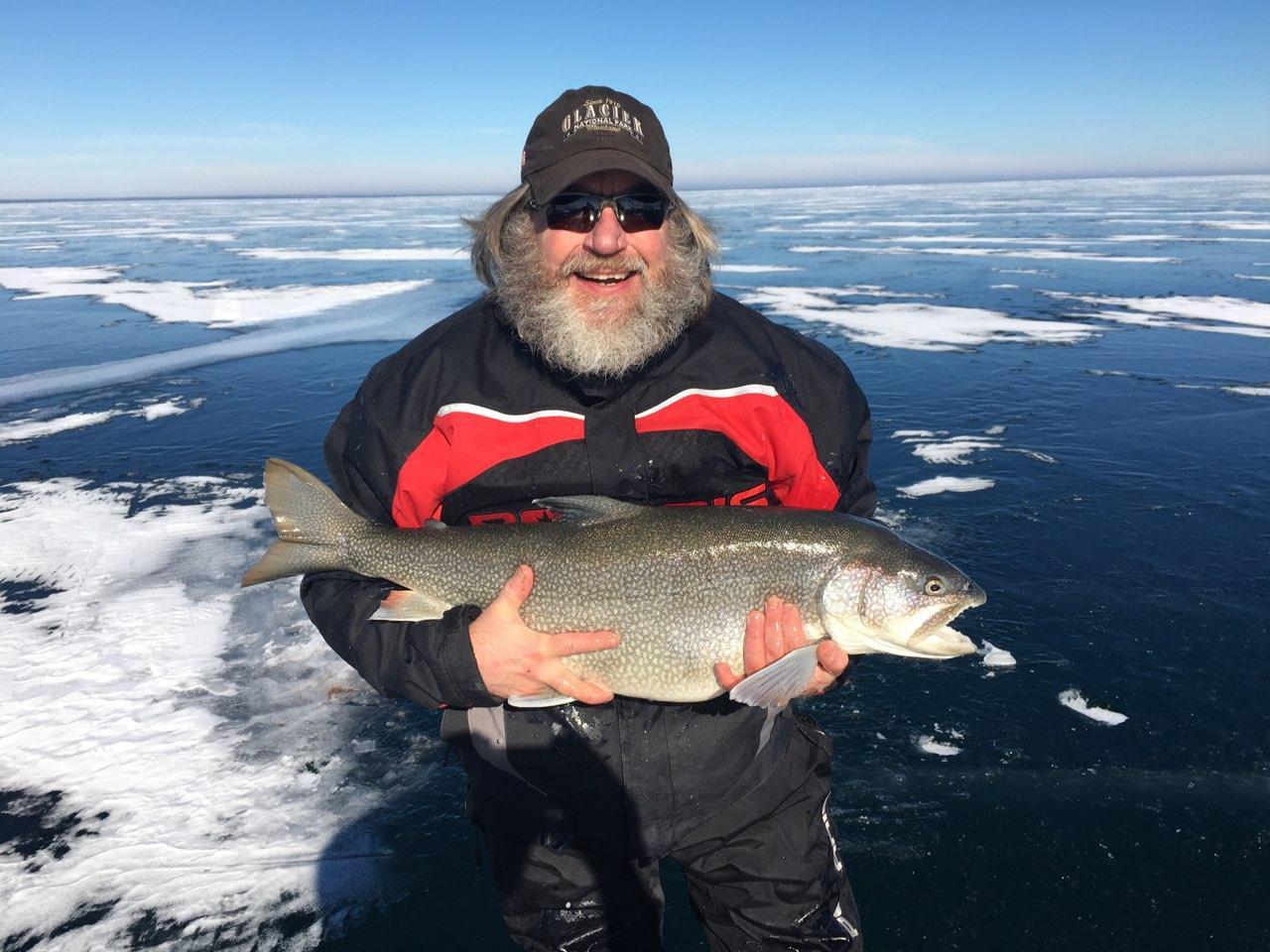 Giant Lake Superior Lake Trout Ice Fishing