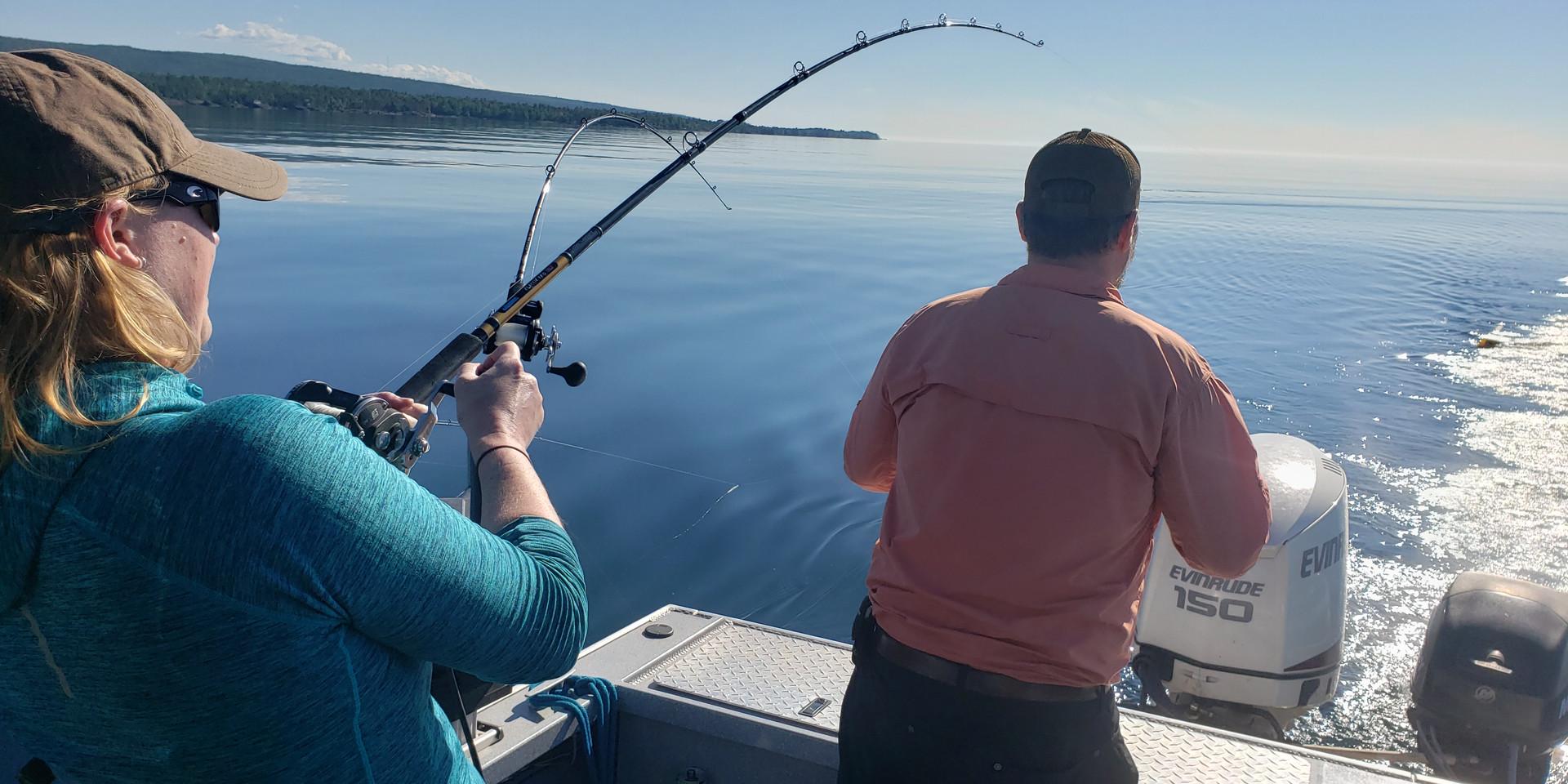 Nearshore Lake Trout Trolling Lake Superior