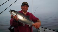 Salmon Fishing on Lake Superior