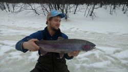 Ice Fishing for Steelhead on Lake Superi