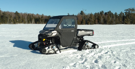 Ice Fishing Tracked Side By Side