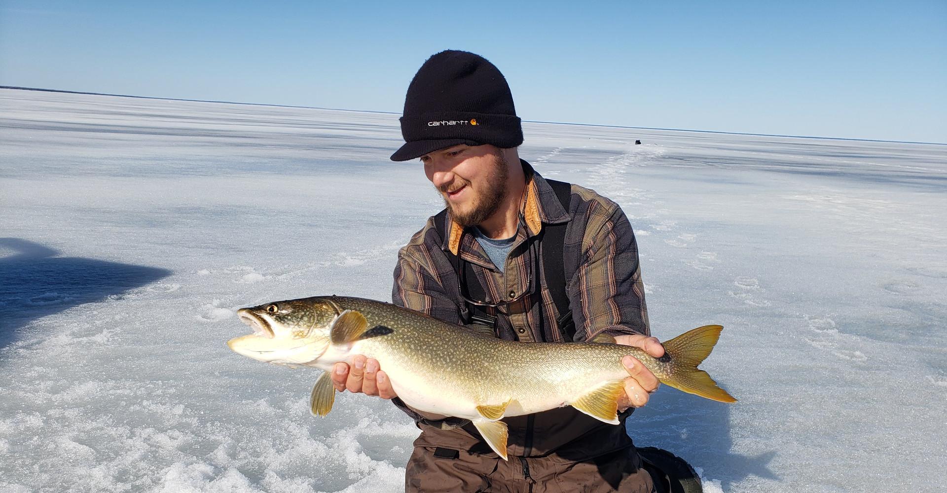 Lake Superior Lake Trout Ice Fishing