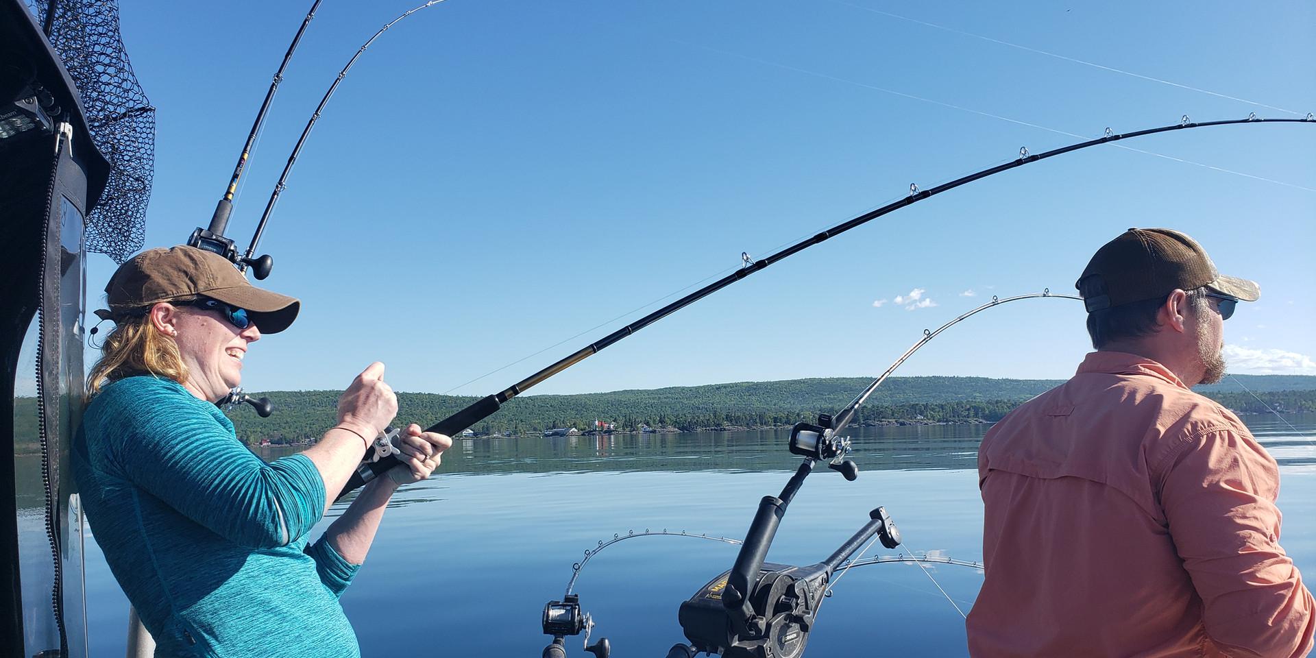 Keweenaw Salmon Fishing