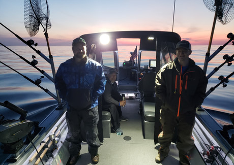 Trolling for Lake Trout and Salmon on Lake Superior