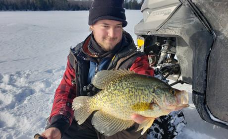 Lake Superior Crappie Ice Fishing