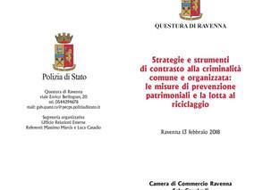 """Convegno """"Strategie e strumenti di contrasto alla criminalità comune e organizzata: le misure d"""