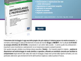 """Libro """"ANTIRICICLAGGIO E PROFESSIONISTI. Tutte le novità dopo il d.lgs. n.90/2017"""""""