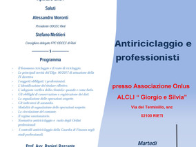 """Convegno """"Antiriciclaggio e professionisti"""" - 12 dicembre 2017"""